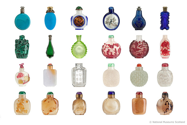 Scent bottles & snuff bottles from Bohemia & China 19th century AD